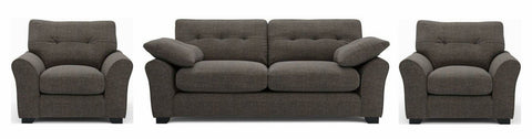Camari grey soft and stylish fabric sofa - Sofa Set Online Bangalore
