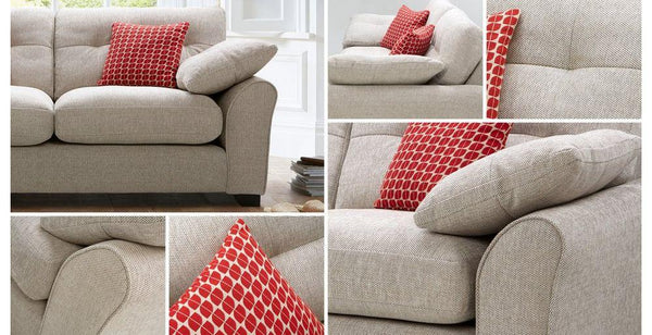Camari murphy in plain L shape sofa set - Sofa Set Online Bangalore