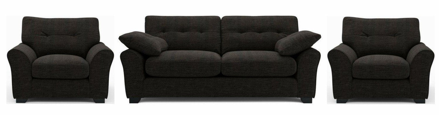 Camari royal black soft and stylish sofa - Sofa Set Online Bangalore