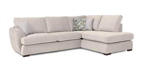Cream color L shape sofa set - Sofa Set Online Bangalore