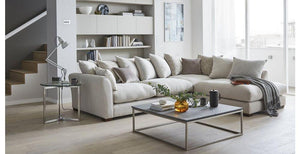 Cream colour arm large L shape sofa - Sofa Set Online Bangalore