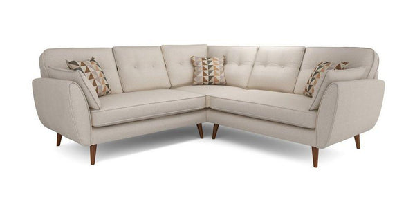 Cream corner L shape sofa set - Sofa Set Online Bangalore