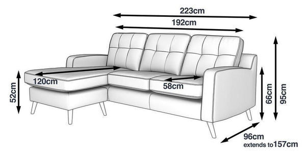 Cubuna 4 Seater Lounger - Sofa Set Online Bangalore