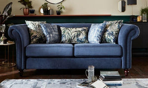 Dark blue living room sofa set - Sofa Set Online Bangalore