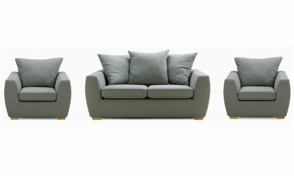 Dinah luxurious padding sofa set Fabric Sofas Sofa Set Online Bangalore 3+1+1