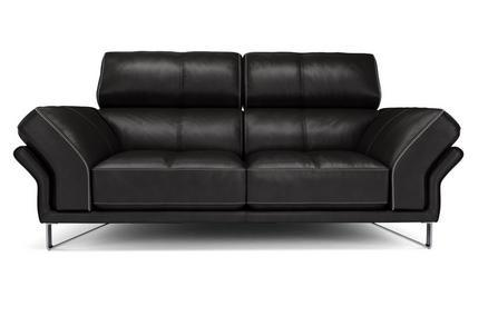 Drama in black contrast genuine leather sofa Genuine Leather Sofa Sofa Set Online Bangalore 2 Seater