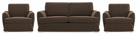 Dyani chocolate color fabric sofa set Fabric Sofas Sofa Set Online Bangalore 3+1+1