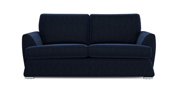 Dyani dark blue elegant fabric sofa set Fabric Sofas Sofa Set Online Bangalore 3 Seater