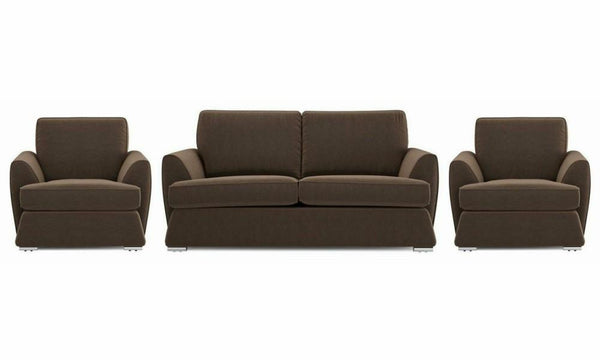 Dyani fabric sofa sets Fabric Sofas Sofa Set Online Bangalore Chocolate 3+1+1