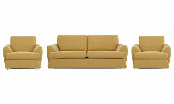 Dyani fabric sofa sets Fabric Sofas Sofa Set Online Bangalore Lemon 3+1+1