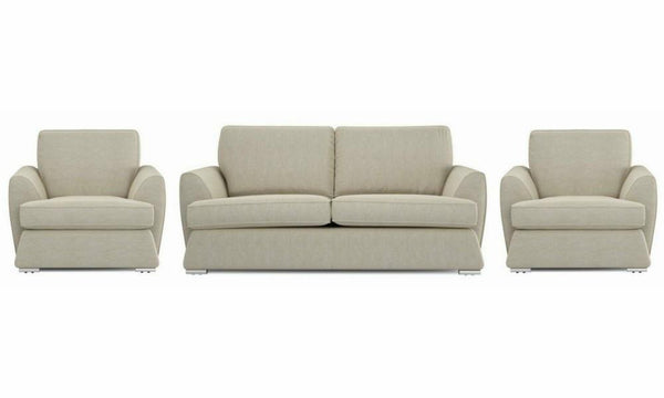 Dyani fabric sofa sets Fabric Sofas Sofa Set Online Bangalore LGrey 3+1+1