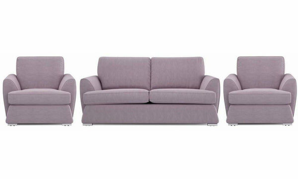 Dyani fabric sofa sets Fabric Sofas Sofa Set Online Bangalore Lilac 3+1+1