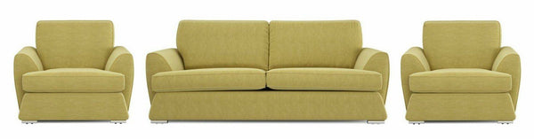 Dyani fresh green fabric sofas Fabric Sofas Sofa Set Online Bangalore 3+1+1