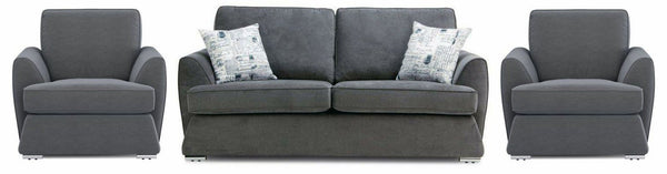 Dyani graphite color fabric sofa set Fabric Sofas Sofa Set Online Bangalore 3+1+1
