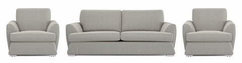 Dyani silver color fabric sofa set Fabric Sofas Sofa Set Online Bangalore 3+1+1