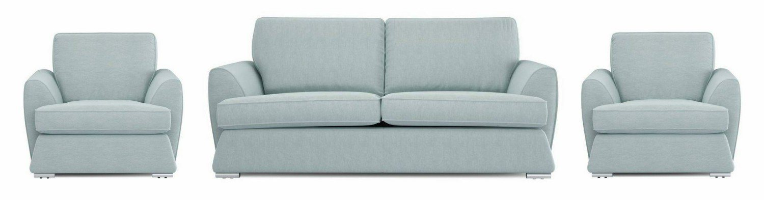 Dyani sky color fabric sofa sets Fabric Sofas Sofa Set Online Bangalore 3+1+1