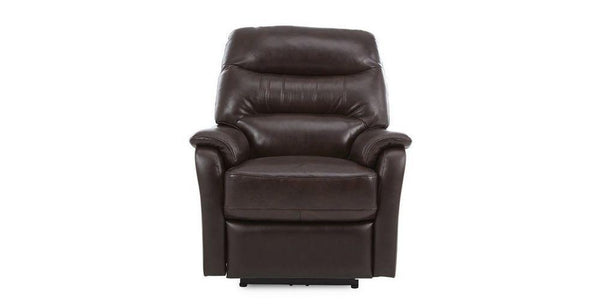 Elegant in walnut manual recliner Leather Recliner Sofa Set Online Bangalore 1 Seater