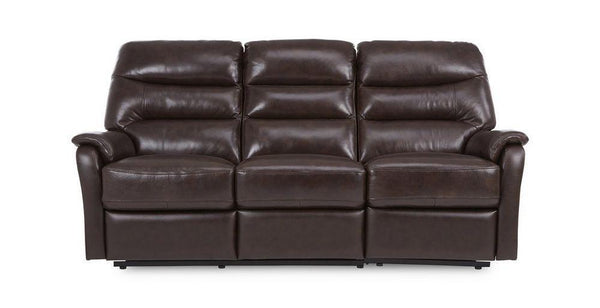 Elegant in walnut manual recliner Leather Recliner Sofa Set Online Bangalore 3 Seater