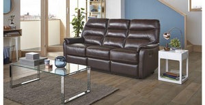 Elegant in walnut manual recliner Leather Recliner Sofa Set Online Bangalore