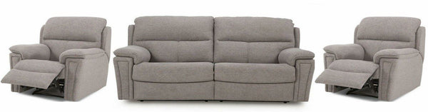 Ember grey color manual recliner Fabric Sofas Sofa Set Online Bangalore 3+1+1