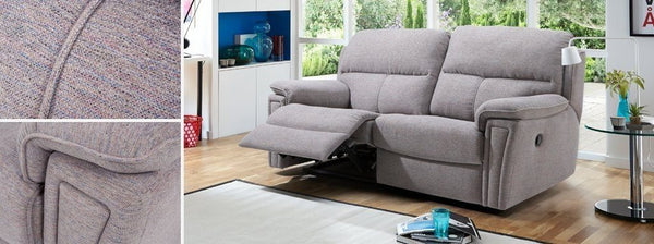 Ember grey color manual recliner Fabric Sofas Sofa Set Online Bangalore
