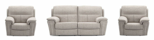 Ember in silver manual recliner Fabric Recliner Sofa Set Online Bangalore 2+1+1