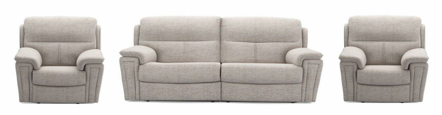 Ember in silver manual recliner Fabric Recliner Sofa Set Online Bangalore 3+1+1