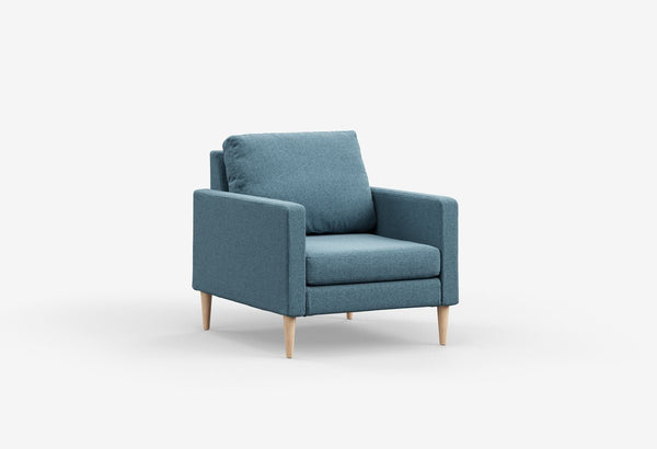 Fabric 1 seater metal sofas Metal Sofa Sofa Set Online Bangalore Meridian Blue Maple