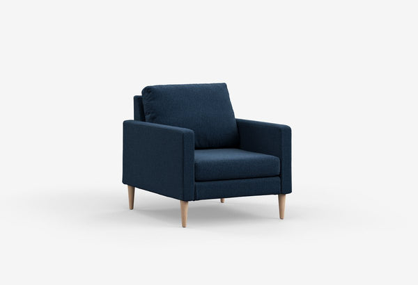 Fabric 1 seater metal sofas Metal Sofa Sofa Set Online Bangalore Midnight Navy Maple