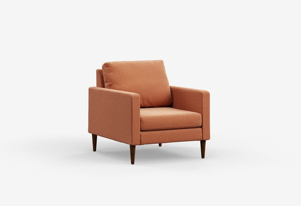 Fabric 1 seater metal sofas Metal Sofa Sofa Set Online Bangalore Mojave Orange Oak