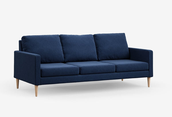 Fabric 3 seater metal sofas Metal Sofa Sofa Set Online Bangalore Pacific Blue Maple
