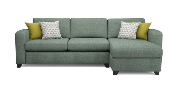 Fabric Combination L shape sofa Fabric Sofas Sofa Set Online Bangalore BGreen L Shape left