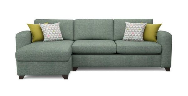 Fabric Combination L shape sofa Fabric Sofas Sofa Set Online Bangalore BGreen L Shape right