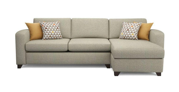 Fabric Combination L shape sofa Fabric Sofas Sofa Set Online Bangalore Cream L Shape left