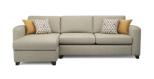Fabric Combination L shape sofa Fabric Sofas Sofa Set Online Bangalore Cream L Shape right