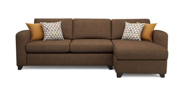Fabric Combination L shape sofa Fabric Sofas Sofa Set Online Bangalore Mocha L Shape left