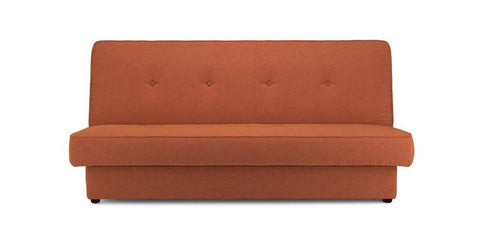 Flic in orange sofa cum bed Fabric Sofa cum Bed Sofa Set Online Bangalore