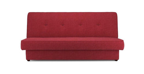 Flic in red sofa cum bed Fabric Sofa cum Bed Sofa Set Online Bangalore