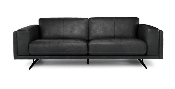 Hackney art leather sofa set Leather Sofa Sofa Set Online Bangalore Black 3 Seater