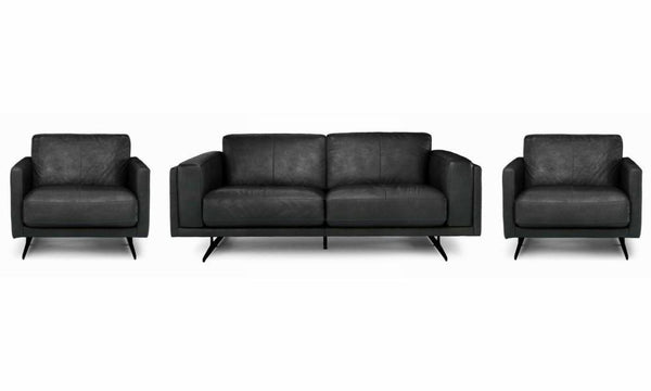 Hackney art leather sofa set Leather Sofa Sofa Set Online Bangalore Black 3+1+1