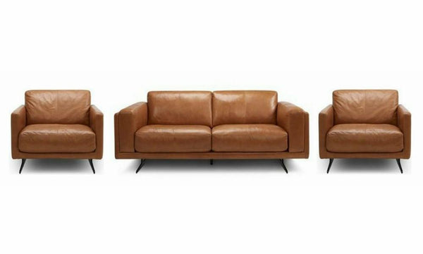 Hackney art leather sofa set Leather Sofa Sofa Set Online Bangalore Brown 3+1+1