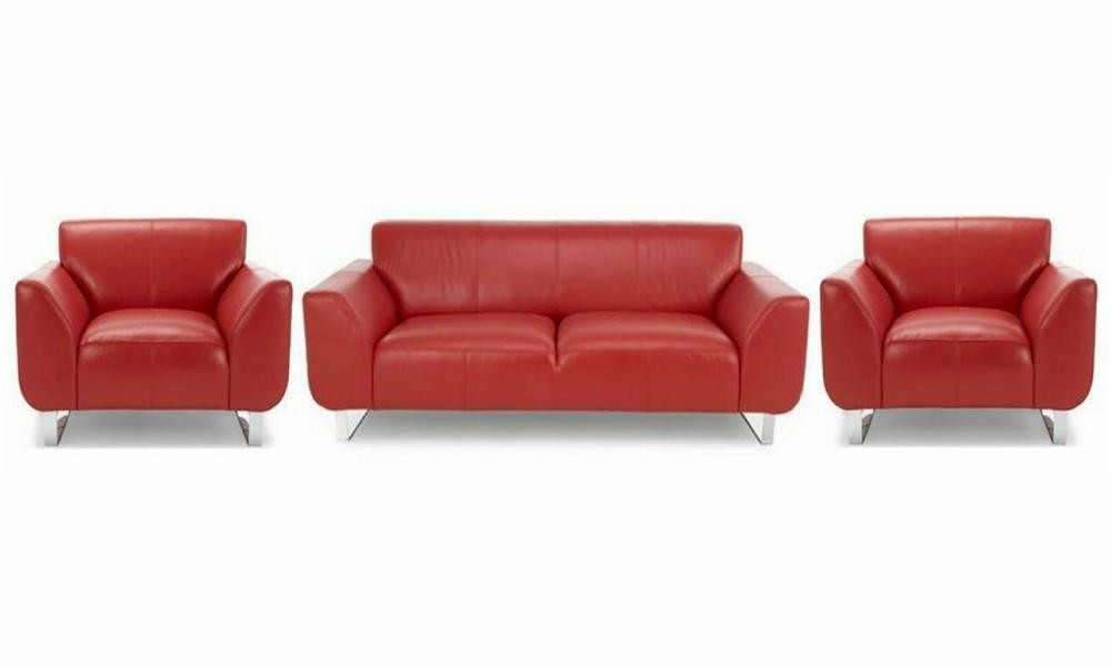 Hardy in red genuine leather sofa Genuine Leather Sofa Sofa Set Online Bangalore 3+1+1