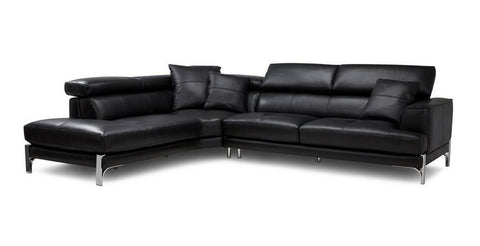 Iconica 5 Seater L Shape Leather Recliner Sofa Set Online Bangalore L Shape Black