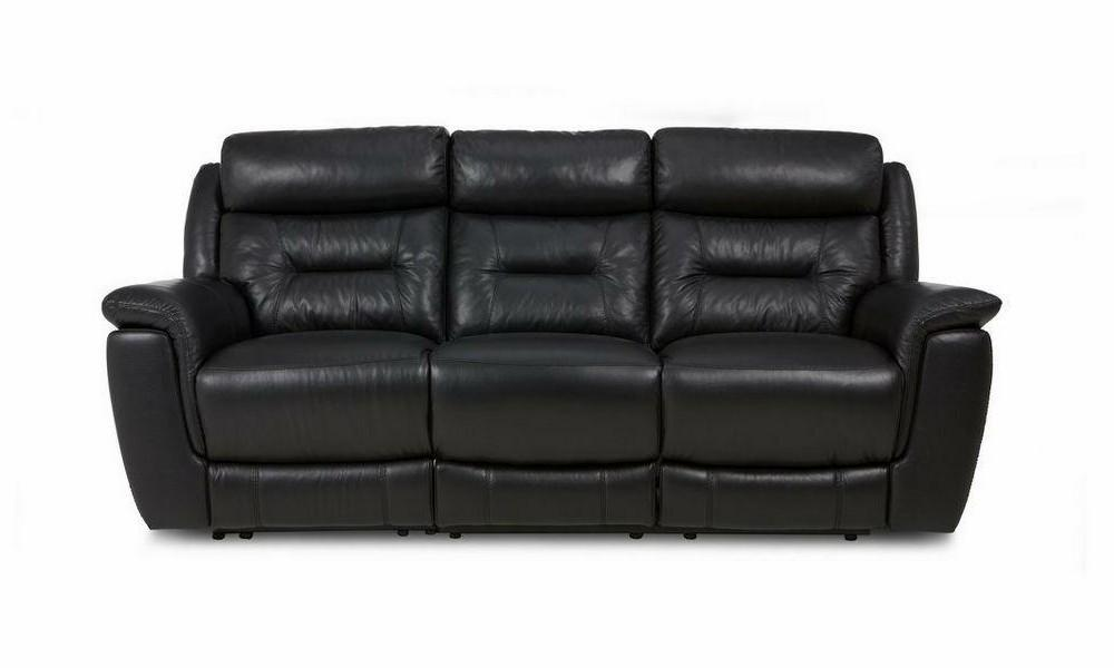 Jenson in black manual recliner Leather Recliner Sofa Set Online Bangalore 3 Seater
