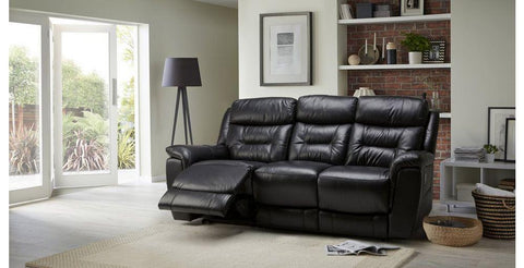 Jenson in black manual recliner Leather Recliner Sofa Set Online Bangalore