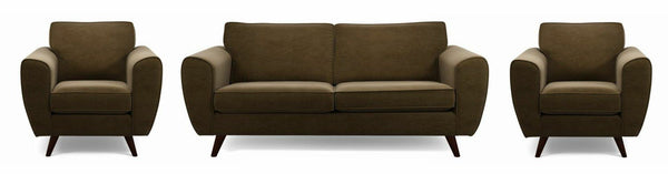 Koby fabric sofa set Fabric Sofas Sofa Set Online Bangalore Chocolate 3+1+1