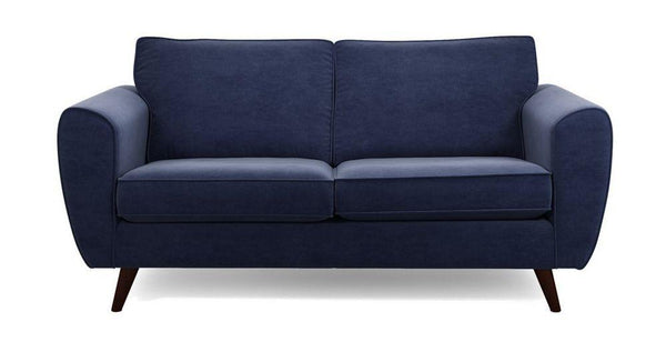 Koby fabric sofa set Fabric Sofas Sofa Set Online Bangalore Dark Blue 3 Seater