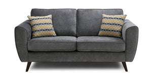Koby fabric sofa set Fabric Sofas Sofa Set Online Bangalore Graphite 3 Seater