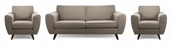 Koby fabric sofa set Fabric Sofas Sofa Set Online Bangalore Taupe 3+1+1