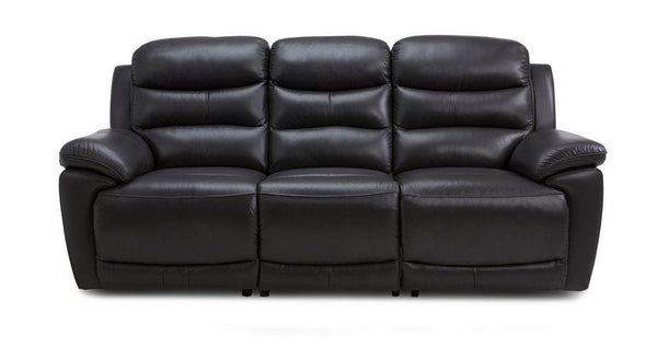 Landos manual recliner Leather Recliner Sofa Set Online Bangalore Black 3 Seater
